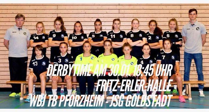 Stadtderby der wB Jugend am Dienstag um 18:45 in der Fritz Erler Halle Wir…