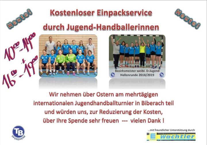 Heute, von – Uhr und – Uhr Einpackservice bei EDEKA-Wachtler im Rodgebiet (Postwiesenstraße)